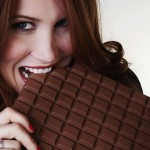 Enjoy the pleasure of eating chocolate